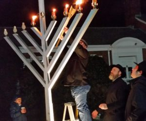 2017 lighting of the menorah