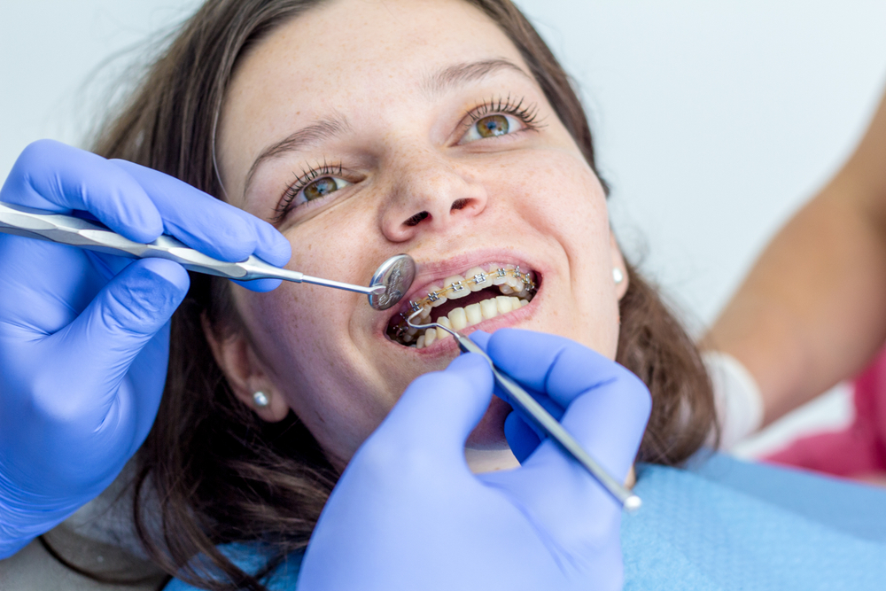 woman in orthodontist chair